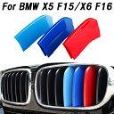 BMW フロント グリル トリム カバー F15 F16 X5 X6 送料無料 グリル ストライプ Mカラー M Sport Sports Mスポーツ キ…