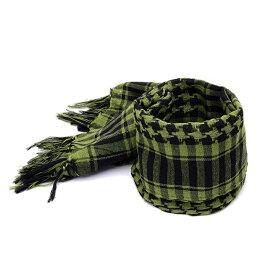 アフガンストール グリーン サバゲ—などにも最適 送料無料 シュマグ SHEMAGH スカーフ ストール タクティカルギア サバゲ— 装備 メンズ レディース コスプレ ネックガード