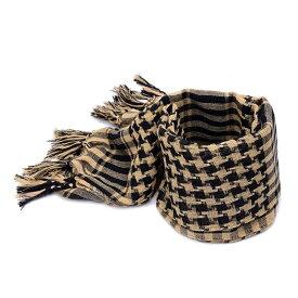 アフガンストール タン サバゲ—などにも最適 送料無料 シュマグ SHEMAGH スカーフ ストール タクティカルギア 装備 メンズ レディース コスプレ ネックガード