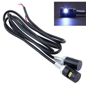 LED ナンバーボルト ブラック 2個セット 送料無料 12V用 ナンバー灯 ナンバーランプ ライセンスランプ バイク 外装 カスタムパーツ ドレスアップ SMD