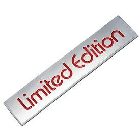 Limited Edition エンブレム リミテッドエディション 送料無料 汎用 両面テープ アクセサリー ドレスアップ カスタムパーツ 外装 フォルクスワーゲン VW Volkswagen