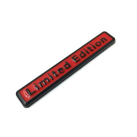Limited Edition エンブレム 汎用 ブラック×レッド 送料無料 リミテッドエディション シール貼り付け AUDI アウディなどに最適 両面テープ ステッカー アクセサリー ドレスアップ カスタム パーツ