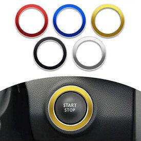 ルノー スタートボタン リング 全5色 Renault ステッカー アクセサリー カスタム ドレスアップ パーツ スターターボタン エンジンスタート