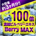 100倍濃縮ビルベリーBerryMAX 約3ヶ月分 【メール便送料無料】※代引・宅急便別途送料※