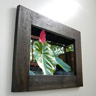 Asian mirror (simple): antique mirror 80 cm