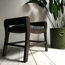 アジアン家具 チーク 椅子 クラブスツール アンティーク家具 バリ家具 オールドチーク 木製 天然木 レザー アジアン 送料無料