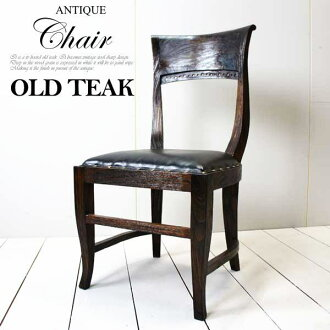 亞洲的亞洲家具-就餐椅子/意大利椅子(古木皮革)/家具巴黎家具就餐椅子椅子老奇克