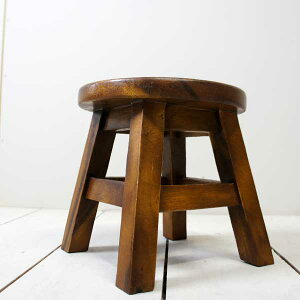 アジアン家具ウッドスツールミニスツール椅子丸椅子子供用作業用天然木アンティーク玄関椅子花台玄関いすイスおしゃれシンプルモダンレトロ