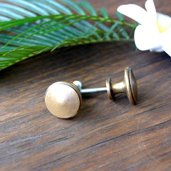 真鍮製家具用ノブ(取っ手・ハンドル・つまみ) 075