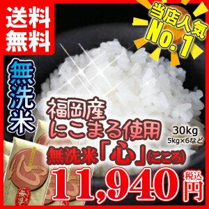 無洗米 送料無料 平成29年産 まとめ買い価格無洗米「心」30kgご注文専用ページ九州産 米 5kg 5キロ 送料込み