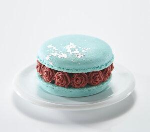 『マカロン・オ・フルール シエル・ブル(アールグレイ)』 水色 アールグレイフレーバ? アールグレイ ガナッシュ ミルクチョコレート セミスイート バレンタイン ホワイトデー