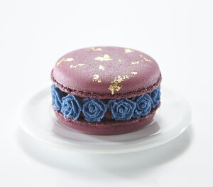 『マカロン・オ・フルール カシス』 紫色 カシスフレーバー カシス 黒スグリ ピューレ ガナッシュ ホワイトチョコレート バレンタイン ホワイトデー