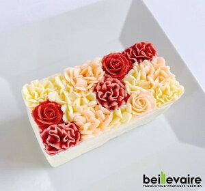フラワーケーキ 洋菓子 バターケーキ beillevaire【ガトーオブーケ ロゼ ハーフ】バタークリーム ケーキ 花ケーキ お誕生日ケーキ バースデーケーキ 冷凍 高級 おいしい 美味しいお菓子 おしゃ