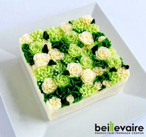 フラワーケーキ 洋菓子 バターケーキ beillevaire【ガトーオブーケ ローズ ヴェルトゥ】バタークリーム ケーキ 花ケーキ お誕生日ケーキ 冷凍 高級 美味しい お菓子 おしゃれ かわいい インス