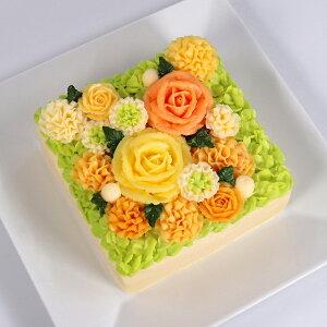 新商品 洋菓子 バターケーキ beillevaire 【ガトー・オ・ブーケ オランジュ】バタークリーム フラワーケーキ 花ケーキ お誕生日ケーキ バースデーケーキ 冷凍 高級 美味しい お菓子 おしゃれ