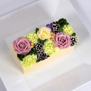 新商品 フラワーケーキ 洋菓子 バターケーキ beillevaire【ガトー・オ・ブーケ モーヴ ハーフ】バタークリームケーキ 花ケーキ お誕生日ケーキ バースデーケーキ 冷凍 高級 お菓子 おしゃれ か