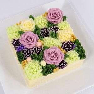 新商品 フラワーケーキ 洋菓子 バターケーキ beillevaire 【ガトー・オ・ブーケ モーヴ】バタークリーム 花ケーキ お誕生日ケーキ バースデーケーキ 冷凍 高級 美味しい お菓子 おしゃれ かわ