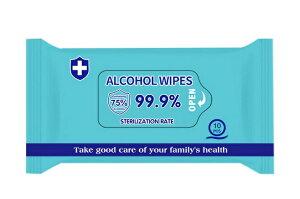ウェットティッシュ 除菌 携帯用 75%アルコールタイプ 30枚(10枚X3パック)国内発送 即送 携帯便利 メール便