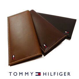 トミーヒルフィガー 二つ折り 長財布 ブラック ブラウン タン 31TL19X013 TOMMY HILFIGER トミー メンズ 財布 ウォレット サイフ レザー 本革 ギフト プレゼント