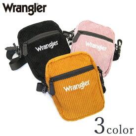 Wrangler ラングラー ロゴ コーデュロイミニショルダーバッグ R483 Y-0337 イエロー ピンク ブラック メンズ レディース ミニバッグ 男女兼用 カジュアル