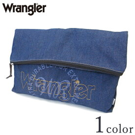 Wrangler ラングラー ステッチ ロゴ デニム クラッチ バッグ R529-61 Y-0363 ブルー ネイビー メンズ レディース ユニセックス バッグ