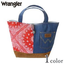 Wrangler ラングラー デニム バンダナトート R530 Y-0364 レッド レディース バッグ