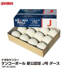 送料無料 野球ボール 軟式 ナガセケンコー ケンコーボール 新公認球 J号 1ダース_4937141011199_97