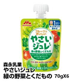 ベビー 飲料 森永乳業 やさいジュレ緑の野菜とくだもの 70gX6_4902720117111_65