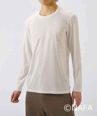 【送料無料】TAKEFU 竹布 メンズ長袖Tシャツ・サービスプラン(開封後返品不可商品)(メール便送料無料)【竹布 ナファ】(代引きは宅配便送料を別途頂きます。)【竹布】【TAKEFU】(竹布インナー) 肌着