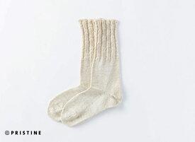【送料無料】オーガニックコットン・プリスティン PRISTINE コットンリネンソックス・ サービスプラン460004(メール便使用)