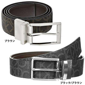 カルバンクライン Calvin Klein リバーシブル CKロゴ 合成皮革 ベルト メンズ アクセサリー ブラック/ブラウン