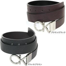 CK カルバンクライン リバーシブル ベルト Calvin Klein メンズ シンセティック レザー ロゴ バックル アクセサリー 誕生日 記念日 お祝い プレゼント オシャレ