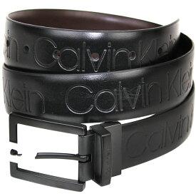 CK カルバンクライン リバーシブル ベルト Calvin Klein メンズ ロゴ シンセティック レザー バックル アクセサリー 誕生日 記念日 お祝い プレゼント オシャレ