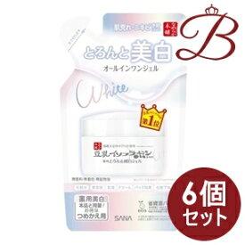 【×6個】サナ なめらか本舗 とろんと濃ジェル 薬用美白 N つめかえ用 100g