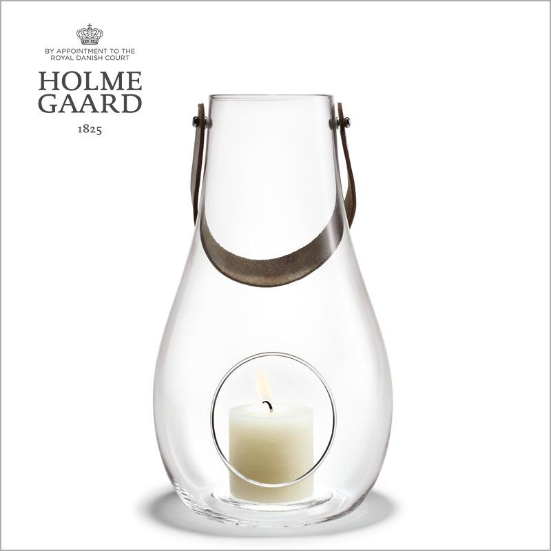 ランタン テーブルランプHOLMEGAARD ホルムガードDESIGN WITH LIGHT Lantern Clear (L) H29cm ランタン クリア (L) H29cm キャンドルホルダー #4343500 吹きガラスステンレス蓋付き ローゼンダール 北欧 ギフト