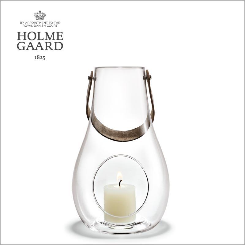 HOLMEGAARD ホルムガードDESIGN WITH LIGHT Lantern Clear (M) H24,8cm ランタン クリア (M) キャンドルホルダー #4343501 吹きガラスステンレス蓋付き ローゼンダール