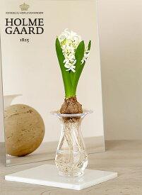 花瓶 ガラス ホルムガード オールドイングリッシュ ヒヤシンス ベース H:14cm 4343804-s球根 花瓶 一輪挿し ガラス フラワーベース北欧 インテリア 雑貨 デンマーク ギフト プレゼント