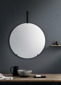 ウォールミラー ムーベ  MOEBE WALL MIRROR 直径70cm Black WMBL70 ブラック   鏡 壁掛け フレームレス 北欧