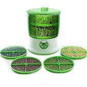 【送料無料】もやし栽培機BelleLifeもやし栽培マシンもやし栽培キット水耕栽培器もやし育成マシン自宅もやし栽培もやし家庭菜園スプラウト栽培2層大容量