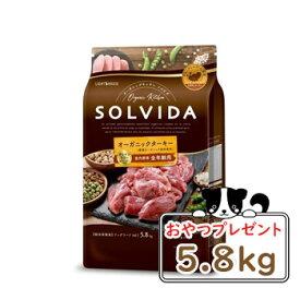 【おまけ対象商品】【サンプル付】SOLVIDA ソルビダ グレインフリー ターキー 室内飼育全年齢対応 5.8kg【ソルビダ(SOLVIDA) オーガニック/肥満犬用・ライト/ドッグフード】【正規品】