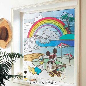 【Disney】ディズニー ステンドグラス風窓飾りシー...