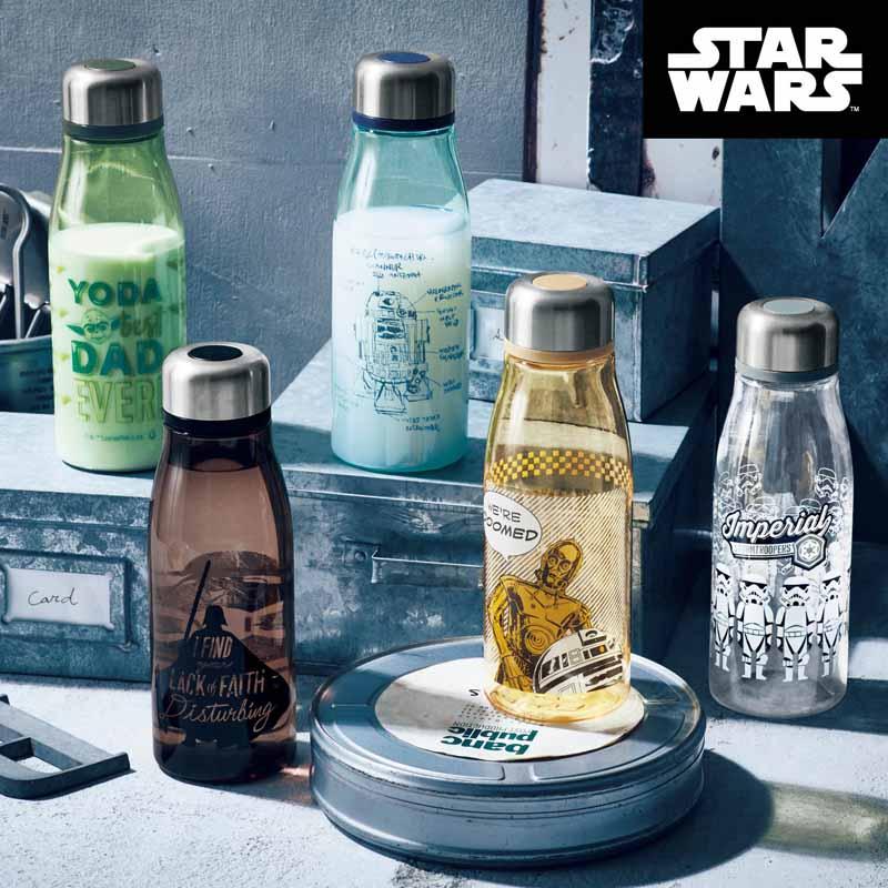【STAR WARS】スター・ウォーズ たっぷり入る軽量マルチボトル ダース・ベイダー C3PO R2D2 ストームトルーパー BB8 ヨーダ キッチン 調理 用具 グッズ 用品 水筒 ボトル マグ 耐熱 直飲み