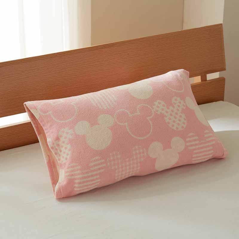 【Disney】ディズニー のびのび枕カバー 「ピンク」 ◆ 約43×63cm用 ◆ ◇ 寝具 布団 ベッド カバー 枕 カバー ピロー ピローケース bed ファブリック ◇ 【belle_d19】