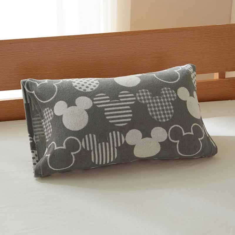 【Disney】ディズニー のびのび枕カバー 「グレー」 ◆ 約43×63cm用 ◆ ◇ 寝具 布団 ベッド カバー 枕 カバー ピロー ピローケース bed ファブリック ◇