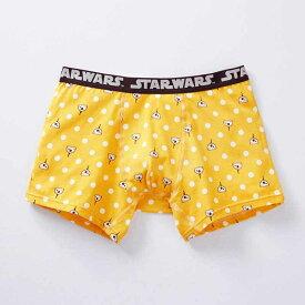 【STAR WARS】スター・ウォーズ メンズボクサーパンツ(前とじ) 「BB‐8(イエロー)」 ◆ M L LL 3L ◆ ◇ メンズ トランクス パンツ 下着 インナー プレゼント 父の日 ◇