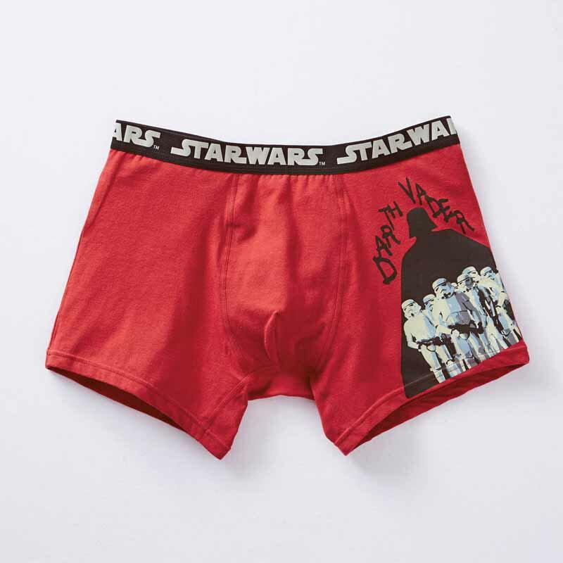 【STAR WARS】スター・ウォーズ メンズボクサーパンツ(前とじ) 「ダース・ベイダー&ストームトルーパー(レッド)」 ◆ M L LL 3L ◆ ◇ メンズ トランクス パンツ 下着 インナー プレゼント 父の日 ◇