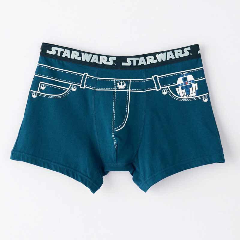 【STAR WARS】スター・ウォーズ メンズボクサーパンツ(前とじ) 「R2‐D2&C‐3PO(デニム風)」 M L LL 3L メンズ 服 男性 トランクス ブリーフ パンツ 父の日 ギフト