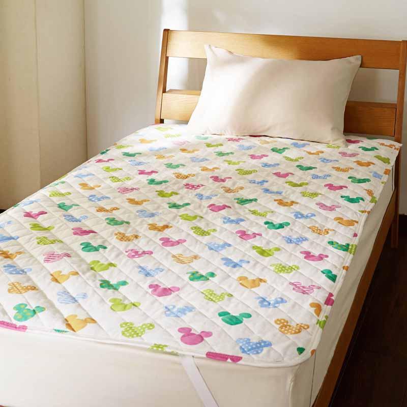 【Disney】ディズニー 綿100%敷きパッド 「マルチ」 ◆ シングル ◆ ◇ 寝具 布団 ベッド カバー シーツ 敷きパッド 敷パッド パッド bed ファブリック ◇