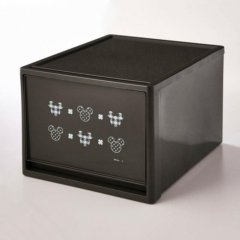 【Disney】ディズニー 中身が見えない収納ケースセット 「ミッキーモチーフ」 B×4 家具 収納 クローゼット 押入 衣装 ケース ボックス