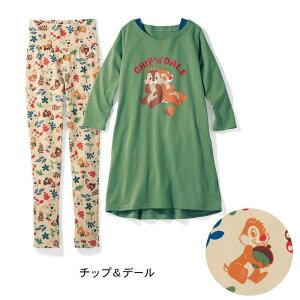 【Disney】ディズニー 重ね着風チュニック長袖パジ...